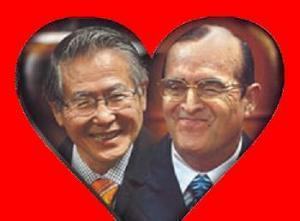 """Fujimori y Montesinos, """"haciéndose ojitos"""""""