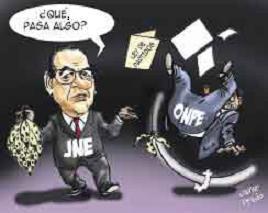 Caricatura de Javier Prado, El Comercio, 10 de setiembre de 2008