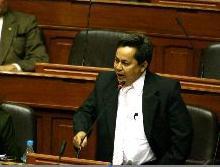 José Vargas, presidente de la Comisión de Constitución y Reglamento del Congreso. Fuente: www.andina.com.pe