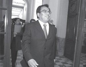 Congresista Javier Velásquez Quesquén, Presidente del Congreso de la República. Fuente: www.correoperu.com.pe