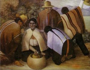 """""""Los borrachos"""", del pintor cajamarquino Mario Urteaga. Fuente: http://www.pint-cajamarquinos.galeon.com"""