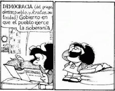 Como siempre, Mafalda con una reacción precisa