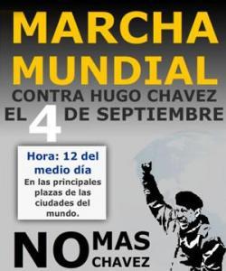 """Afiche de la campaña """"No más Chávez"""""""