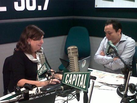Carlo Magno Salcedo entrevistado por Rosa María Palacios en Radio Capital, el 16 de mayo de 2011