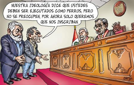 Carlincatura 18 de enero de 2012. Fuente: La República