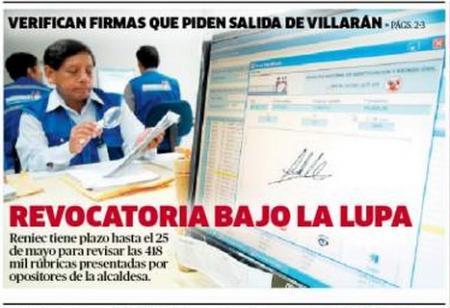 Fuente: La República, miércoles 16 de mayo de 2012.