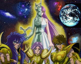 Athena & Caballeros de Oro