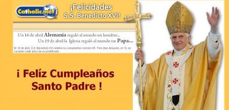 FELIZ CUMPLEAÑOS SANTO PADRE BENEDICTO XVI krouillong karla rouillon gallangos no recibas la eucaristia en la mano