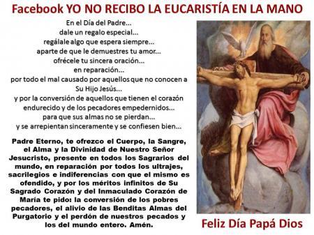 krouillong karla rouillon gallangos feliz dia del padre no recibas la eucaristia en la mano comunion en la mano