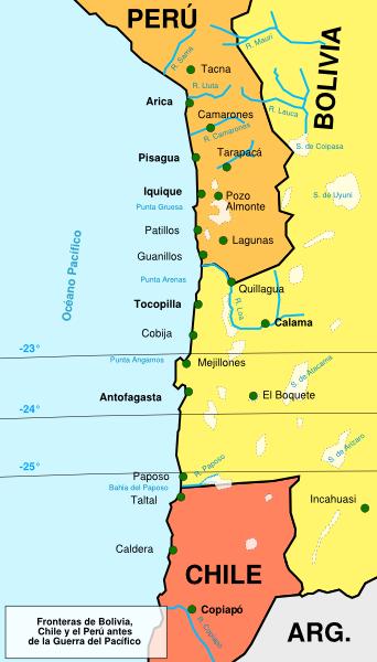 Límites entre Perú, Bolivia y Chile antes de 1789