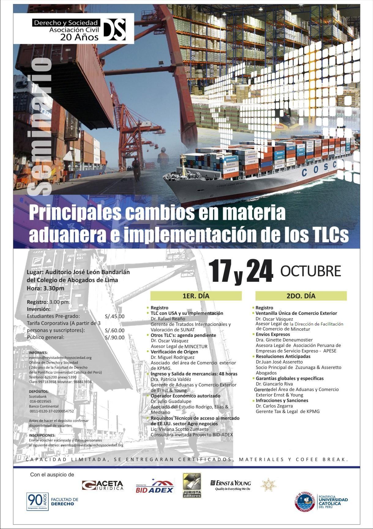 Principales Cambios en Materia Aduanera e Implementación de los TLCs