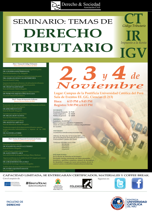 Seminario: Temas de Derecho Tributario