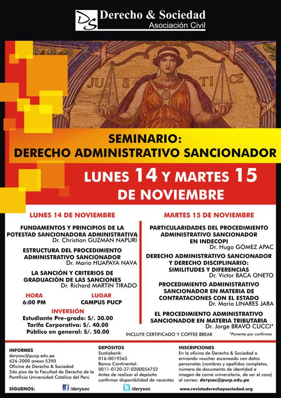 Seminario: Derecho Administrativo Sancionador