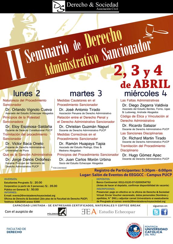 II Seminario: Derecho Administrativo Sancionador: Clic para agrandar imagen