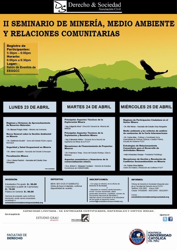 II Seminario de Minería, Medio Ambiete y Relaciones Comunitarias: Clic para agrandar imagen