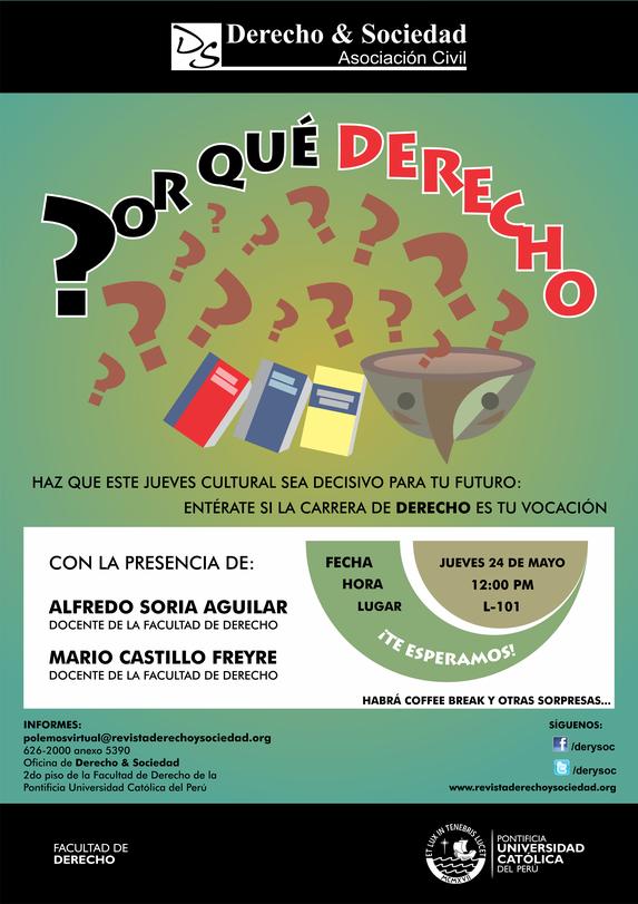 Conversatorio ¿Por Qué Derecho? - Clic para agrandar imagen
