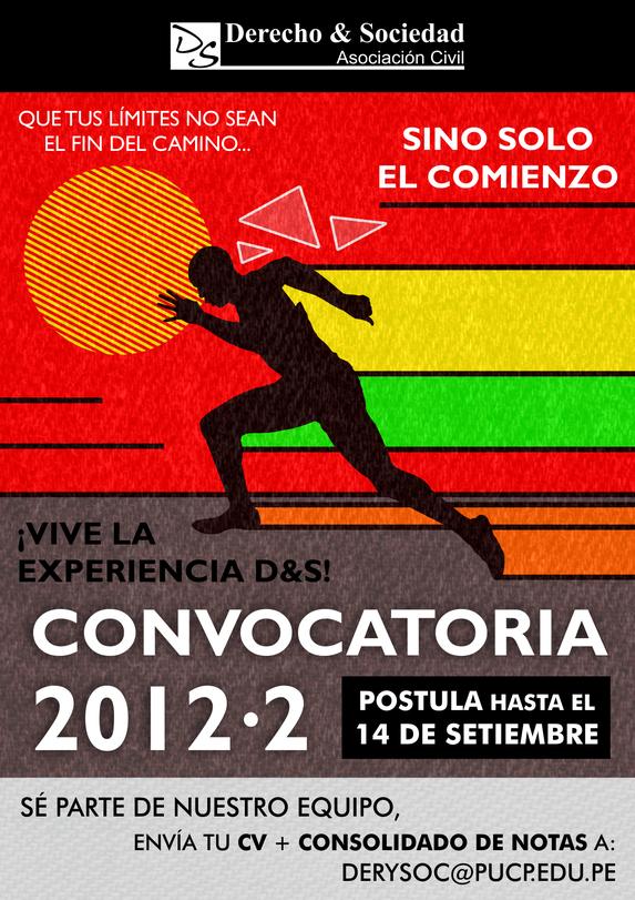 Convocatoria 2012-2: Derecho & Sociedad