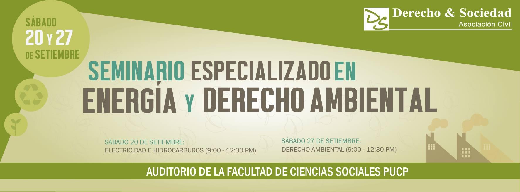 Seminario Especializado en Energía y Derecho Ambiental