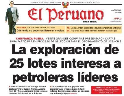 25 lotes petroleros