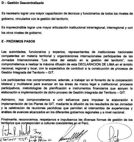 Declaracion de Lima 2
