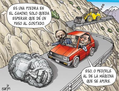 Piedra en el camino