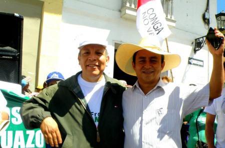 Gregorio Santos y Marco Arana