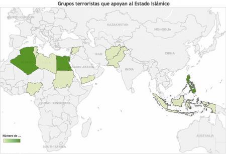 Grupos terroristas apoyan Estado Islamico