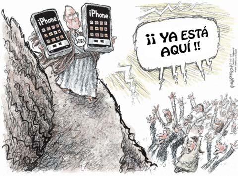 Steve Jobs bajando de la Montaña al Valle Silicon