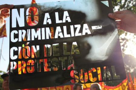 Criminalización de la protesta social