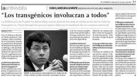 Entrevista Transgenicos El Comercio