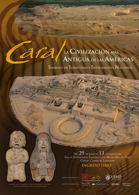 Caral Exposición museográfica en Larcomar