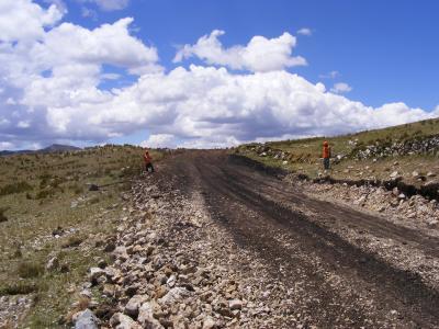 Carretera Moderna construida sobre el Qhapaq Ñan
