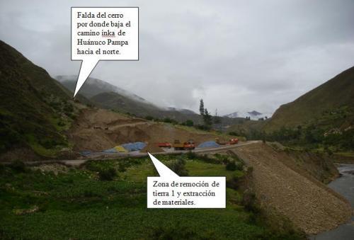 Extracción de materiales en las bases del Qhapaq Ñan