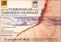 Sofia Chacaltana Tambos Inkas y Coloniales