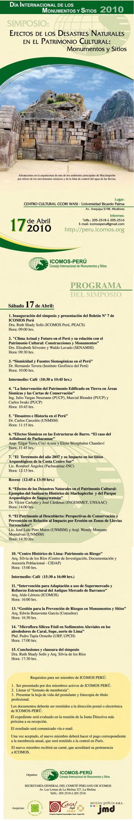 Programa ICOMOS -  JOSE LUIS PINO MATOS