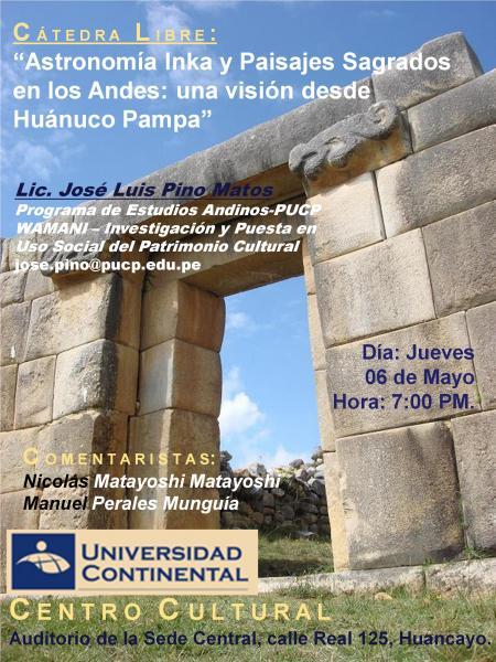 Astronomia Inka - Jose Pino - Centro Cultural Continental