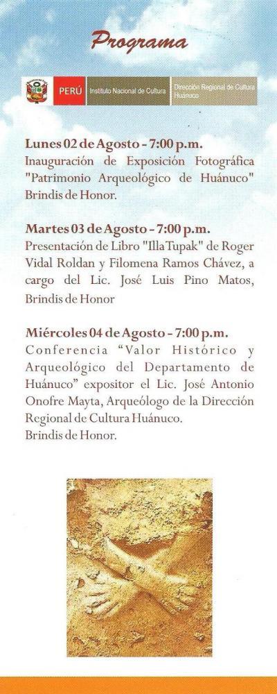 Jose Luis Pino Matos - ILLA TUPAC - Programa Club Huanuco