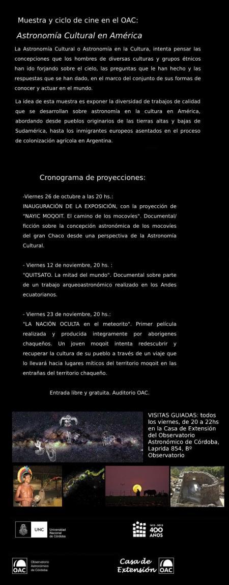Ciclo Cine Astronomia Cultural