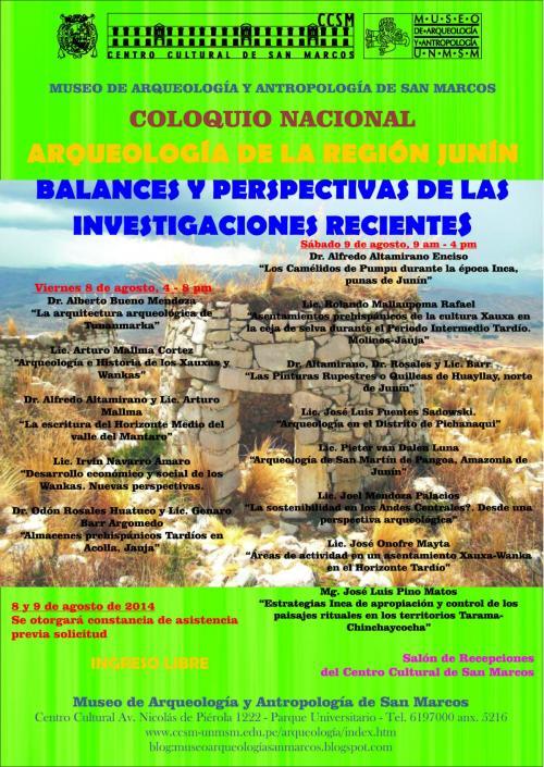 Coloquio Arqueologia de Junin 2014