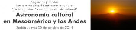 Jornadas Astronomia Cultural SIAC 2014 JOSE PINO