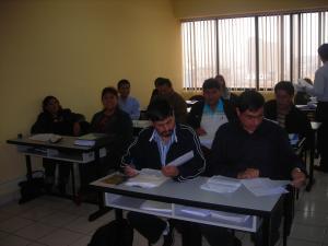 Imágenes del inicio del examen final.