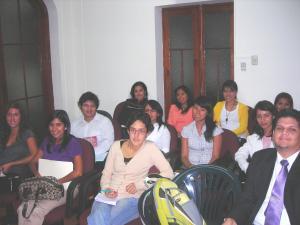 Estudiantes participantes en el VI Taller de Derecho Ambiental