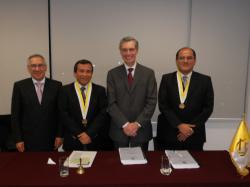 De izq. a der: Carlos Blancas, Samuel Abad, Hubert Wieland y Luis Huerta,.