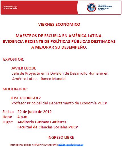 Viernes Económico 22-06-2012