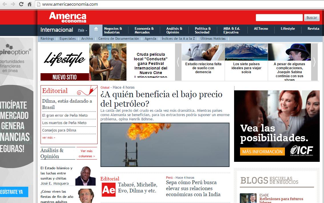 Interesantes revistas online sobre econom a for Online sites in usa