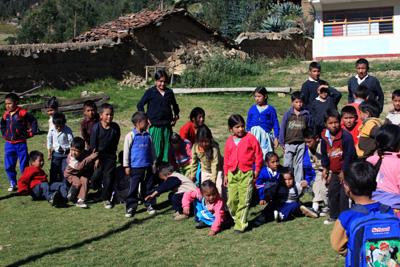 Escuela rural en Ancash
