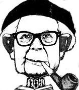 Jean Piaget en dibujo