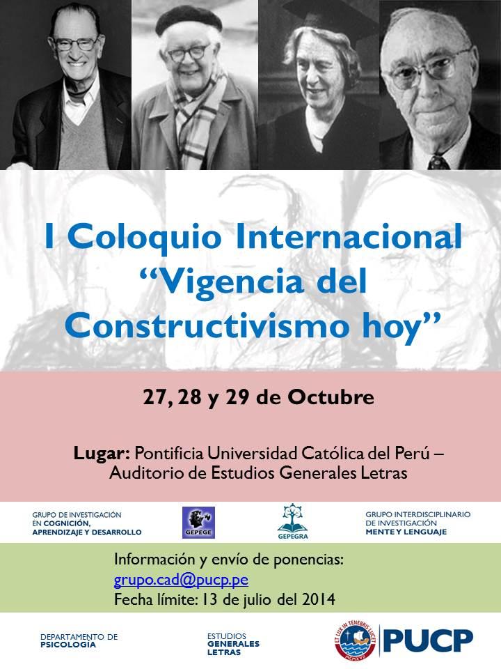 Coloquio Constructuvismo 2014