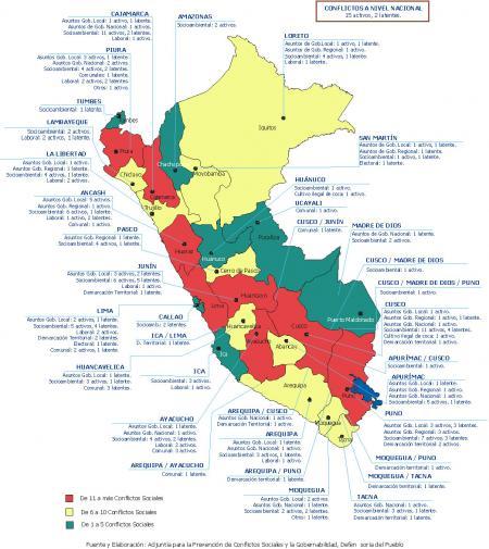 Mapa de conflictos sociales - Defensoría del Pueblo