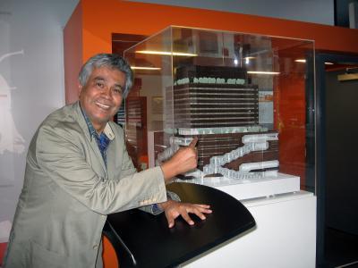 Maqueta del nuevo edificio NSSR